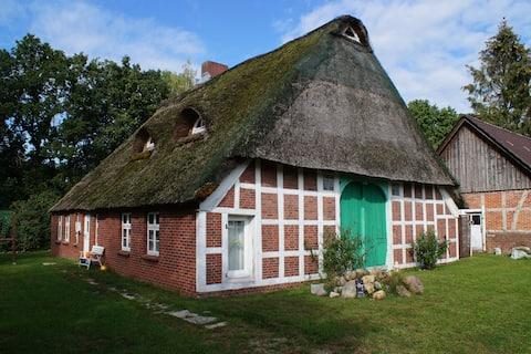 Kreativ-Kate - Wohnen im Reetdachhaus unrenoviert
