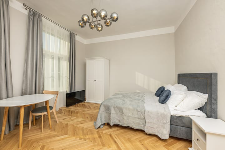 Luxurious apart king bed & kitchen, self check-in