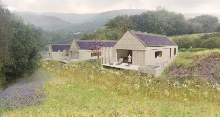 Luxury lodge with hot tub and sauna - Lavender
