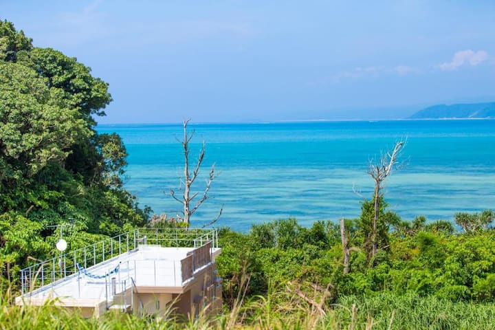 Ocean view room with free marine items in Okinawa
