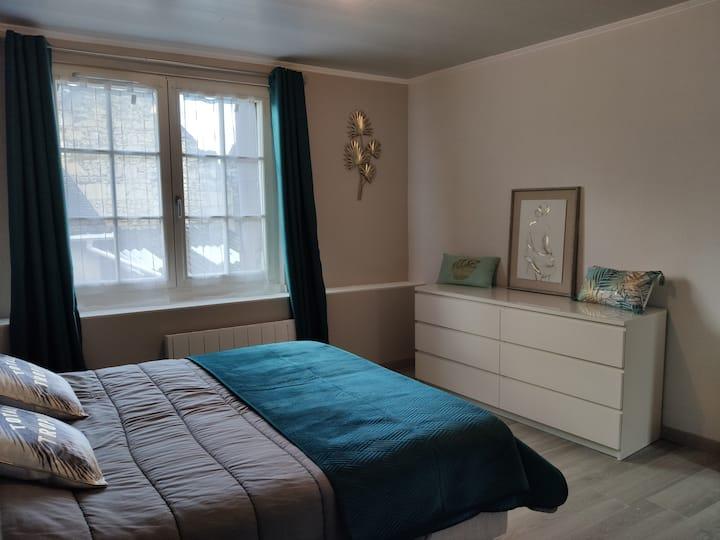 Grande chambre dans charmante maison en tuffeau.
