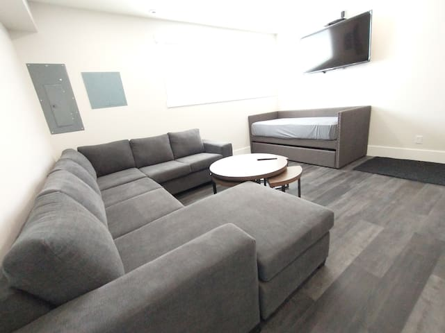 """First Floor Living room #1 of 2 with 55"""" TV with Full Bell Cable"""