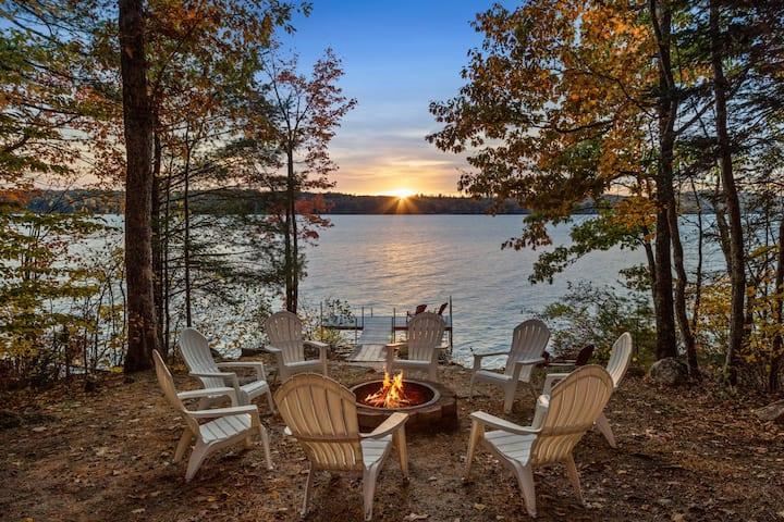 Waterfront Long Lake Retreat with Mountain Views!