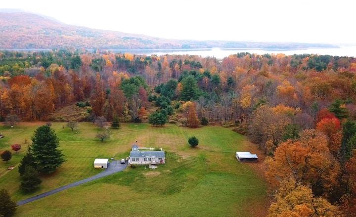 Panoramic Catskills Mountain View on 13 acres