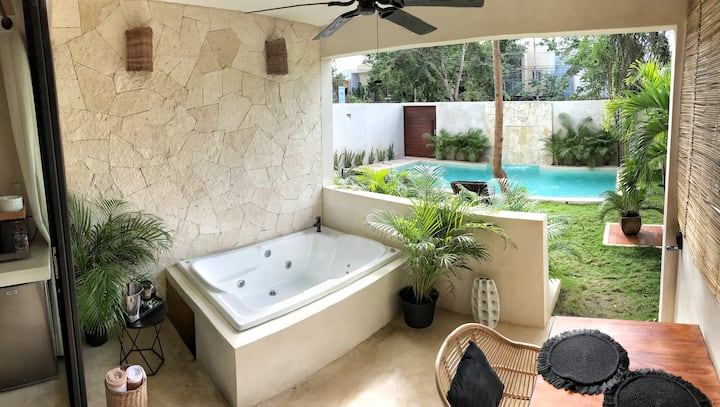 Studio 1 Tulum/ Piscine / Spa privatif / Wifi Fast