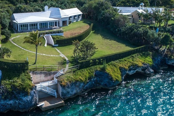 Sound Winds private oceanfront estate w Tennis ct