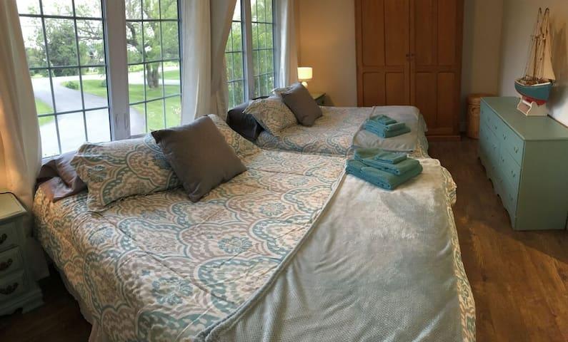 Guest Bedroom. Queen size beds.