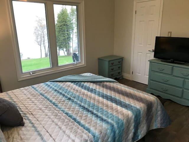 Master bedroom.  Queen Size bed.