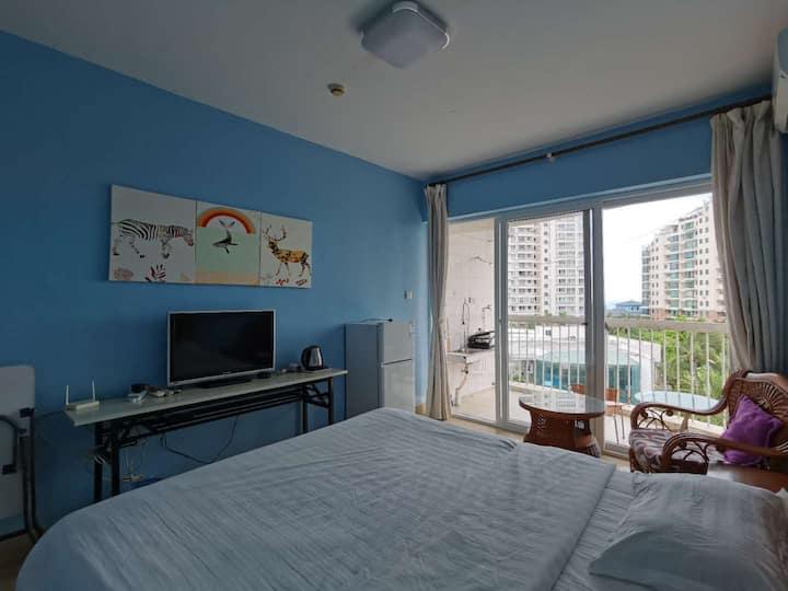 三亚湾碧海蓝天小区,36米一室开间