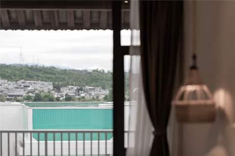 🌸网红泳池-最美银杏-月之双床-近尹氏祠堂-不爬坡-私人管家行程规划-庭院美景