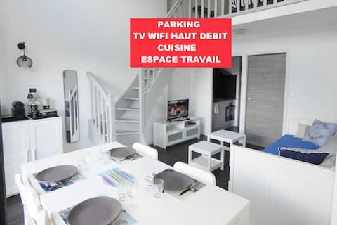 LES SABLES PORT OLONA 44M2 WIFI TV PARKING PRIVEE