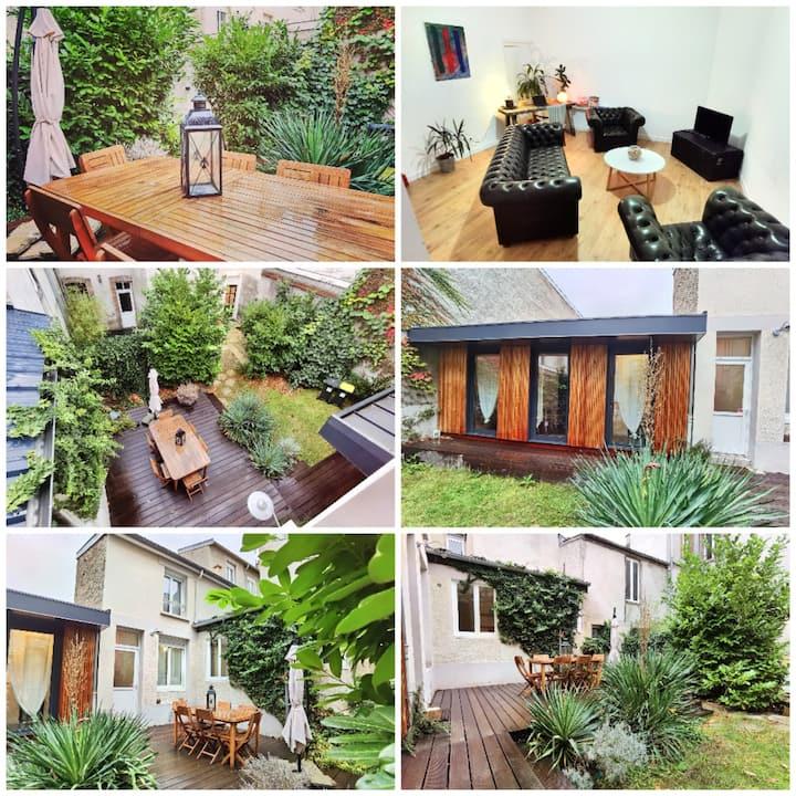 Reims maison de ville terrasse & jardin 🌹🌳🌷🌼