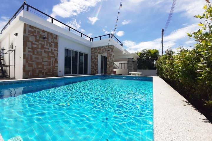 *Party* Private Pool Villa Huahin ❤BarBQ, Karaoke❤