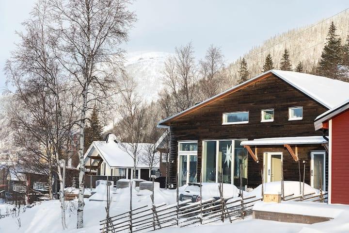 Arkitektritad villa i Åre by hyrs ut över julen