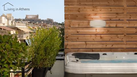 Luxury Penthouse with Jacuzzi & 360 Acropolis View