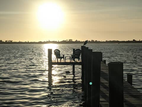 20 Steps to Water! Amazing Waterfront Sunsets!