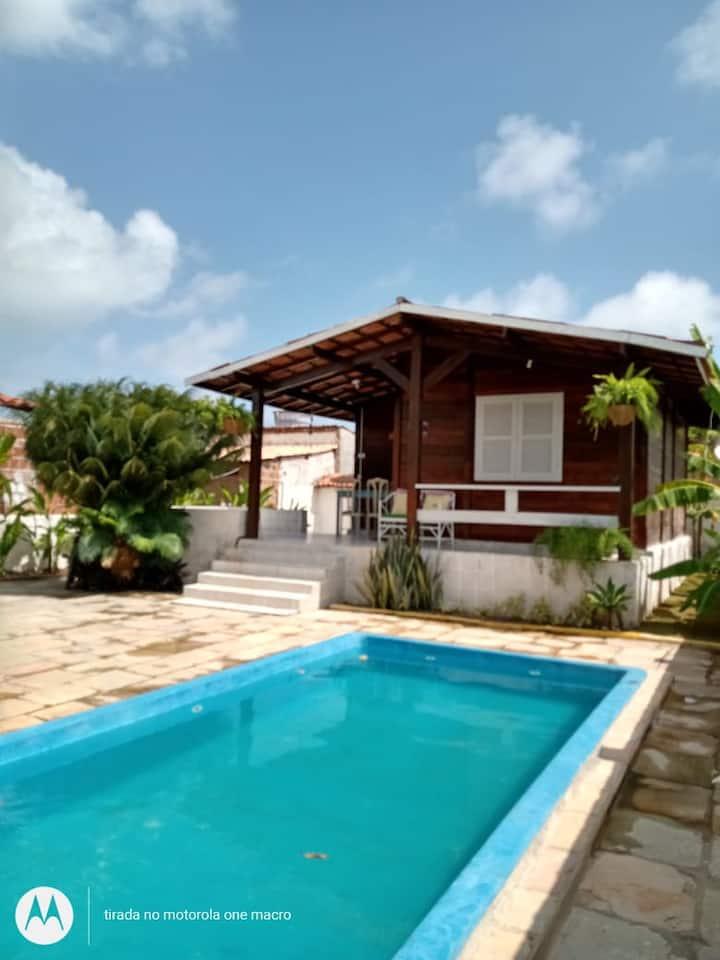 Casa Serrambi 6-10 hosp c/ piscina 5 min da praia