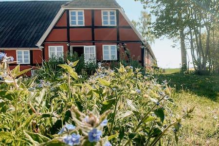 Strandgården - idyllisk firlænget gammel gård