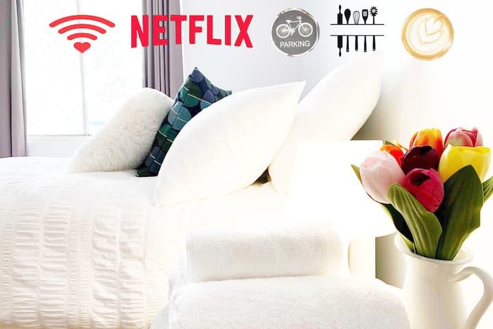 ⭐️ Free Parkings& High Speed Wifi &Netflix