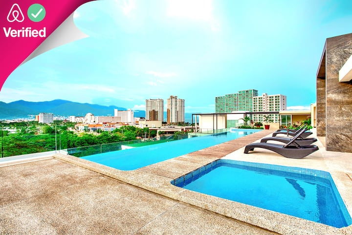 Enjoy the Views from Rooftop Pool & Near the Beach