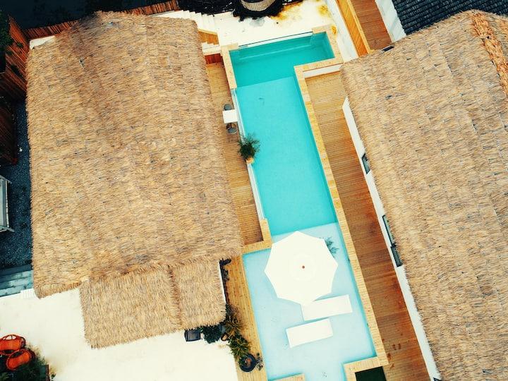 岛屿设计师酒店〔挽回〕摩洛哥阳光观景情侣房/投影仪/近迪士尼地铁直达徐汇