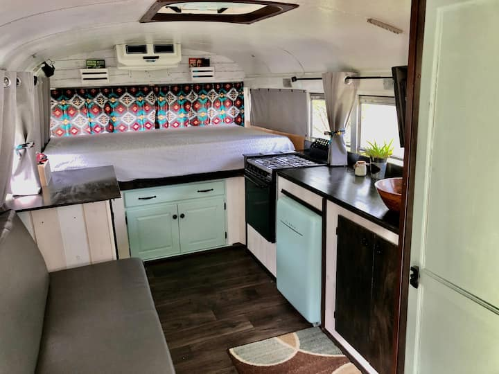 BEACH BUS~ Custom Skoolie Camper close to Beach!