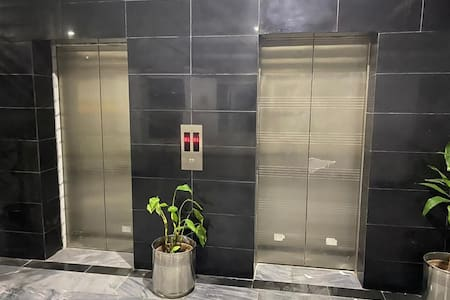 Elevator that straight away takes you to the dorm, from the underground parking area.