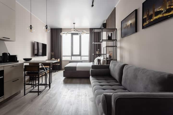 Люкс-апартаменты с фантастическим видом на Сити