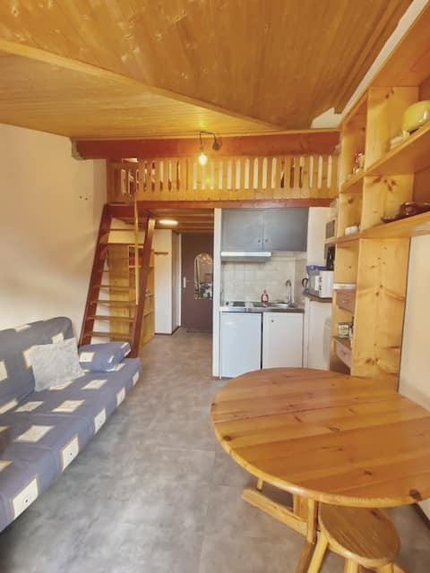 Hirmentaz-Bellevaux, studio au pied des pistes