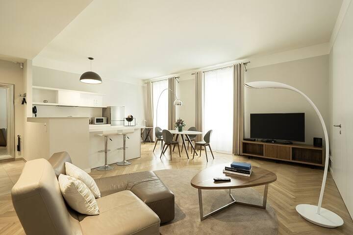 Großzügiges Apartment im Hotel Sans Souci Wien