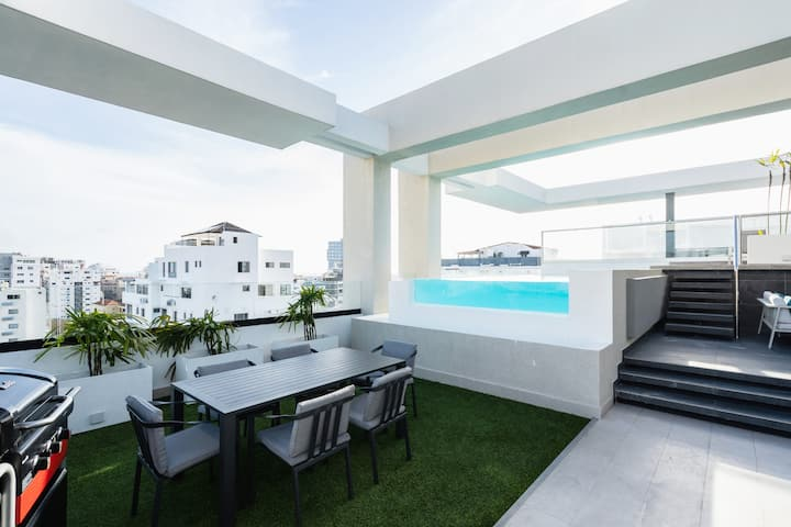 ★Luxury Apt AMG Life 2BR W/Pool, BBQ and rooftop ★