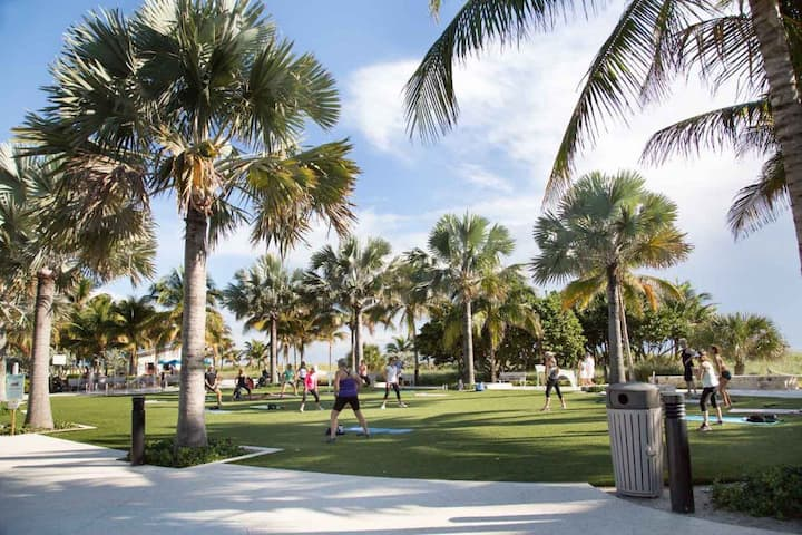 Yoga on the Beach in Tranquil Pompano