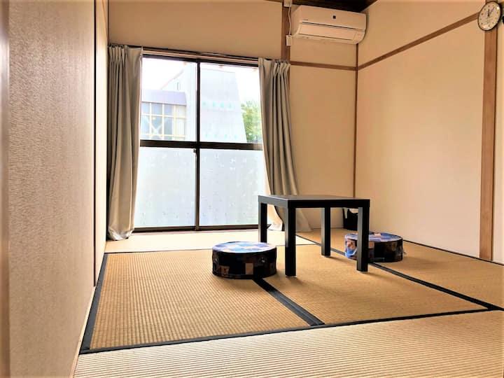 長野県宮田駅前ゲストハウス宿屋DOYA・高速バス停徒歩7分・個室5部屋-1・和室6畳定員1~3名まで