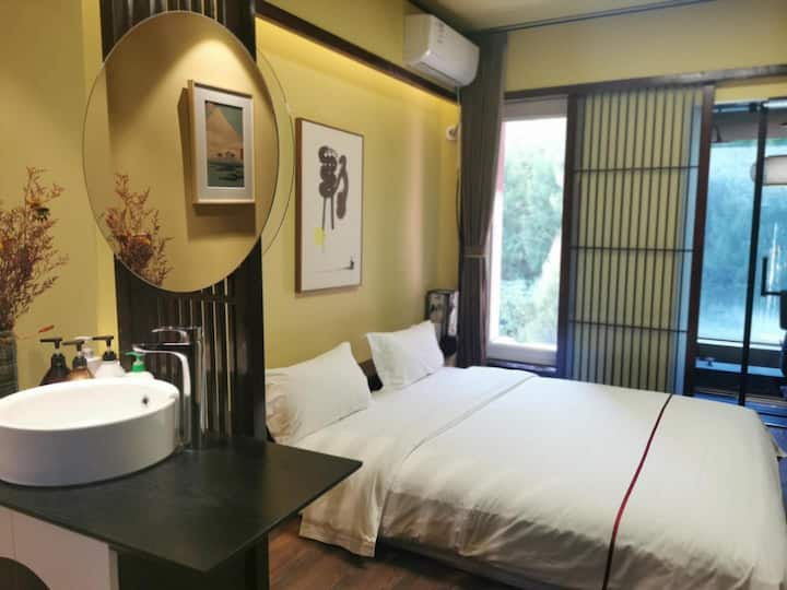 普悦溪溪里温泉公寓 - 日式温泉大床房