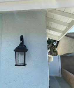 Lights when first entrance then there is a house light.