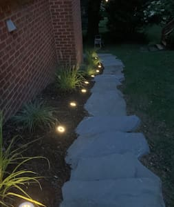 Stone steps leading to entrance
