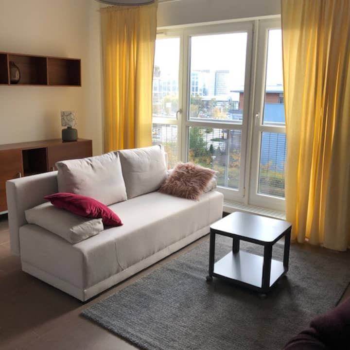 Słoneczny apartament przy Silesia City Center