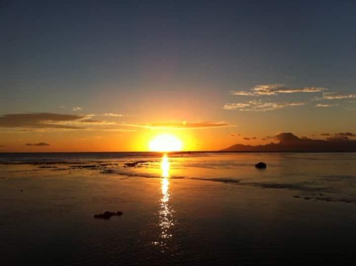 Puna'auia, appart avec jardin privé, plage à 40m