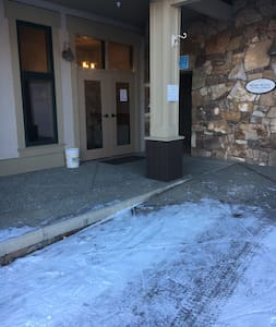 Exterior door entrance to building