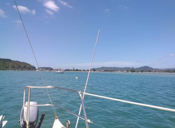 Whangamata Harbour  aboard Magic..