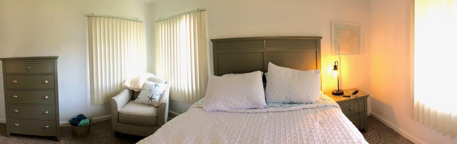 Luxurious Queen bed in master bedroom