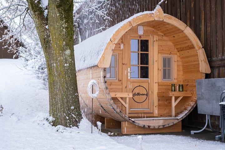 Wohnfass an toller Lage mit Aussicht auf die Alpen