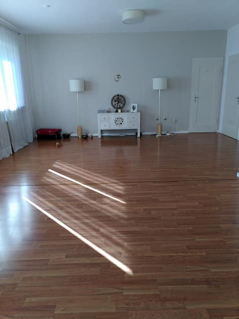 energetically quiet room  in a yoga studio