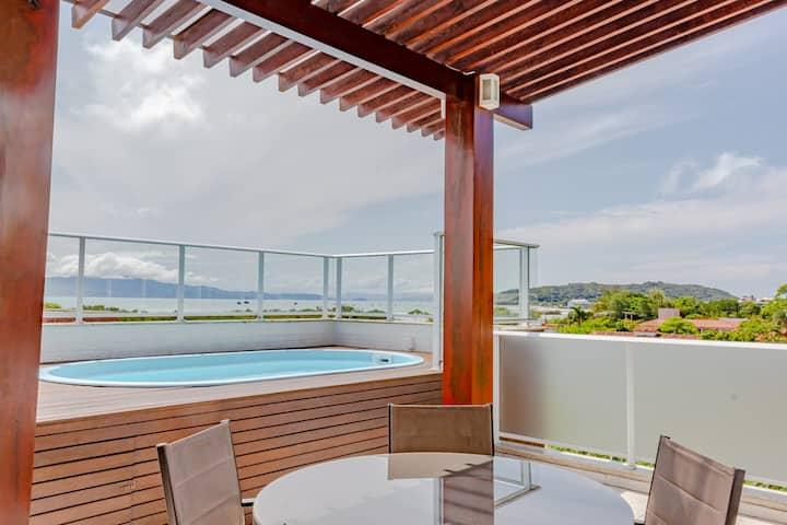 Cobertura, piscina privativa, 100m praia Floripa!😍