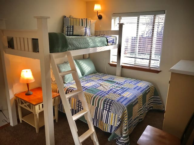 The Blossom Mountain Room. Full Bed + Twin Bunk. Sleeps 3.