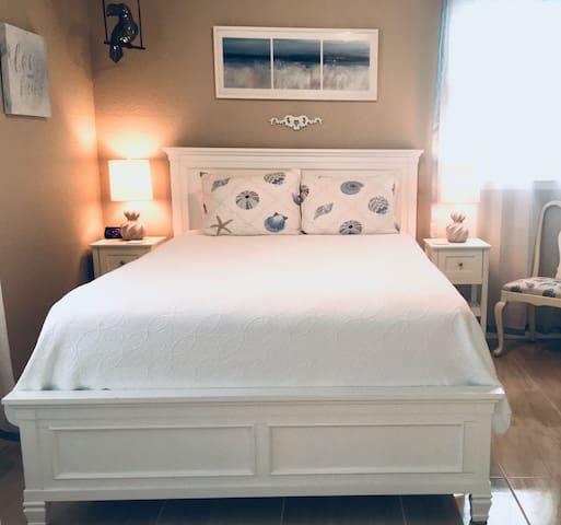 Dreamiest sleep ever on the Queen-size plush pillow top mattress