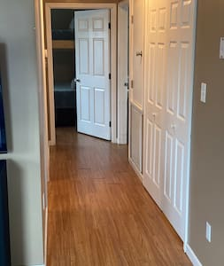 Wide hallways designed by wheelchair bound builder