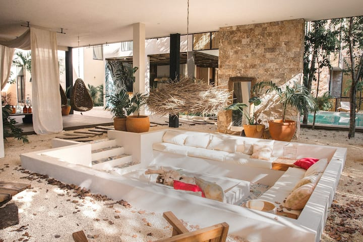 """Aldea Zama """"House in Tulum"""" with shared pools"""