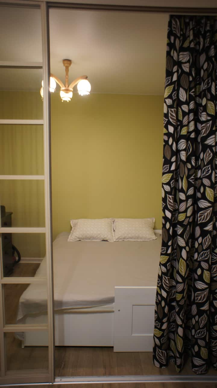 Studio apartment 55 min from Moscow