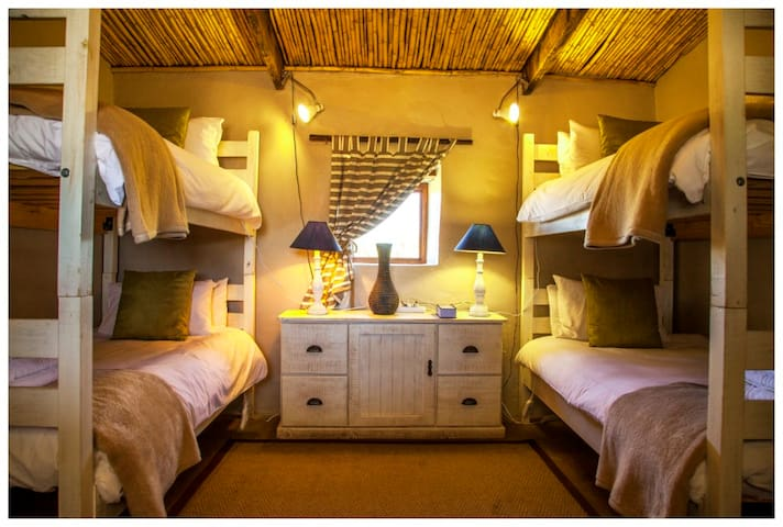 Chalet second bedroom with bunk beds